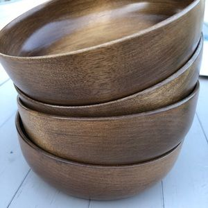 Set of 4 Wooden bowls